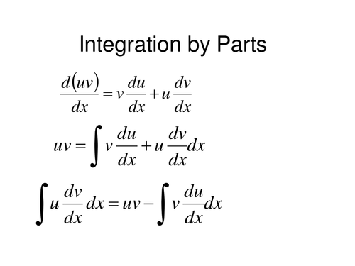 Integration By Parts By Sjcooper
