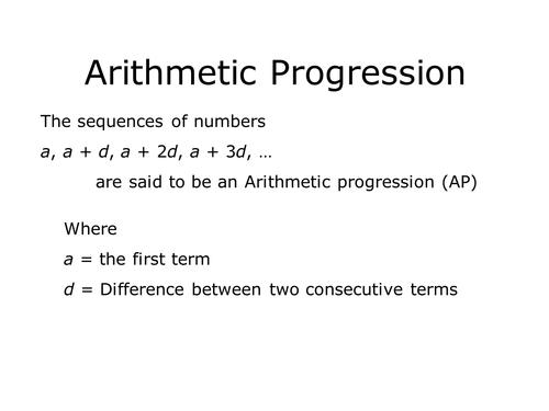 Arithmetic Progressions