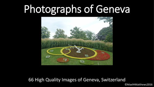 Art. French. Photographs of Geneva