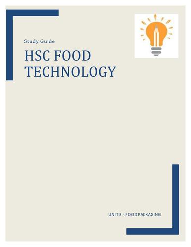 HSC Food Technology Notes - Unit 3