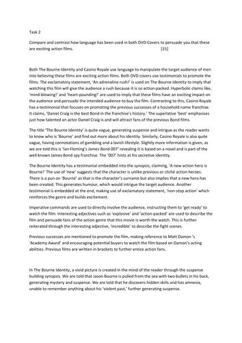 CCEA GCSE Multimodal Essay