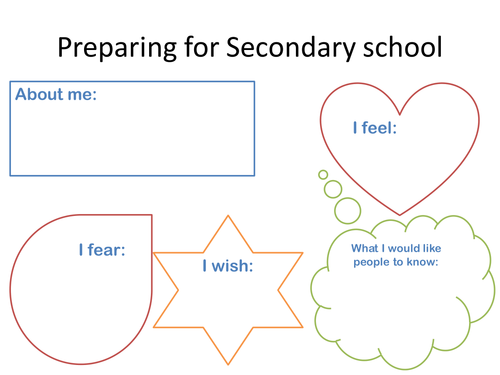 Transition Activity - Primary to Secondary School by starfish1954 ...