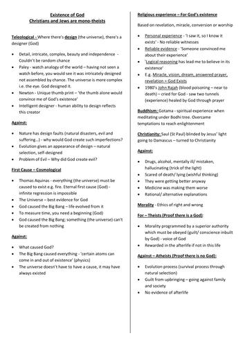 Religious Studies GCSE Revision Guide