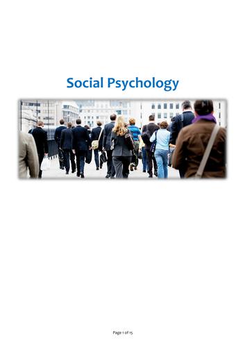 Social Psychology Study Guide