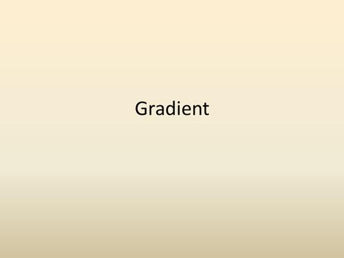 Calculating Gradient