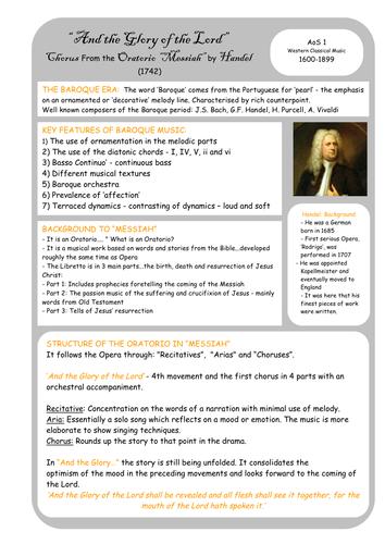 Edexcel GCSE Music (Old Spec) AoS1 Revision Summaries