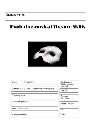 BTEC Level 1 Performing Arts Unit 12 - Musical Theatre