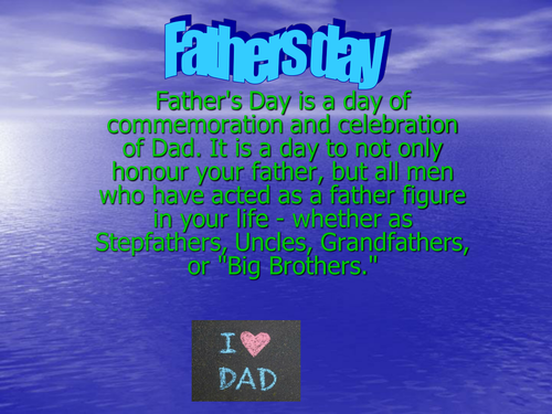 Fathers Day Assembly