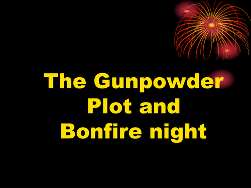 Bonfire night and Guy Fawkes
