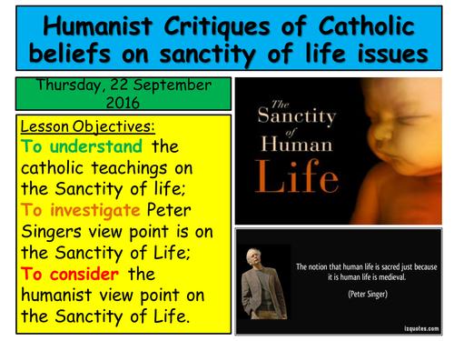2016 RE EDUQAS GCSE. Route B, Theme 1.  Humanist Critiques on the Sanctiy of Life & abortion.