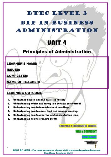 WORKSHEET– PRINCIPLES OF ADMINISTRATION –TASK1.1-1.6 (BTEC L 3 DIP IN BUSI ADMIN)