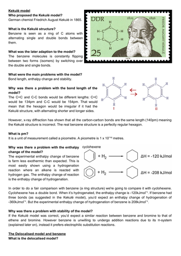 A level chemistry revision: Benzene and aromatic compounds