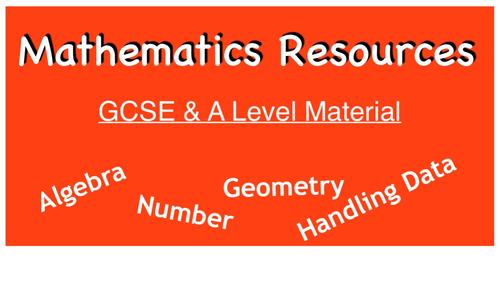 New GCSE Test Material grades 6 & 7