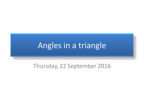 Angles in a triangle or quadrilateral