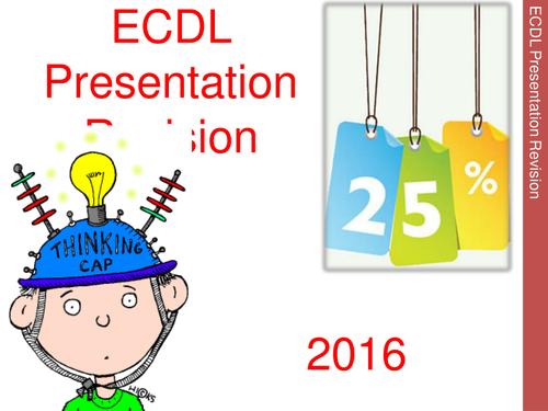 ECDL Presentation Intensive Revision Pack