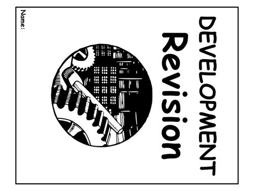 "GCSE revision workbook ""DEVELOPMENT"""