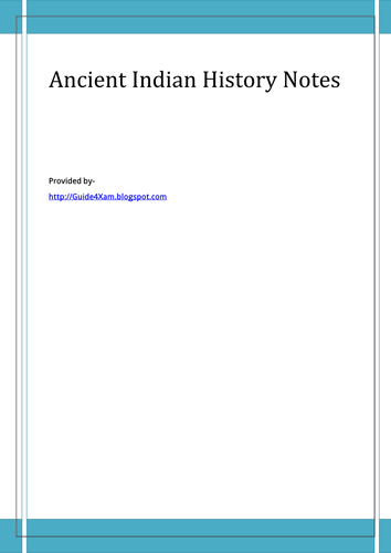 Ancient Indian History Notes