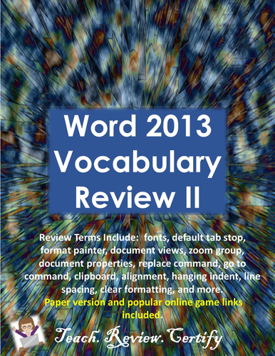 Word 2013 Vocabulary Review II