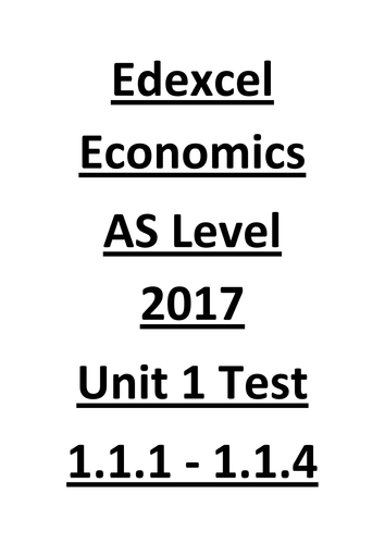 Edexcel Economics Unit 1 test (1.1.1- 1.1.2) (25 questions