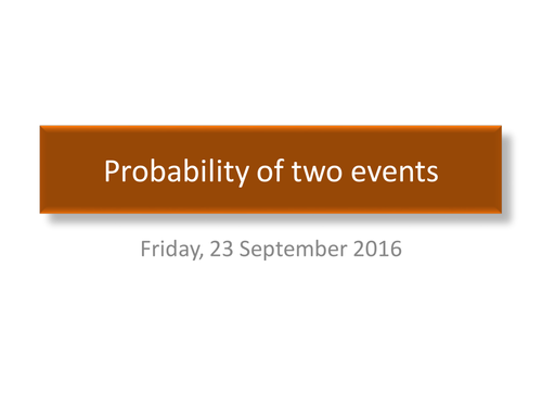 Probability Sample Space