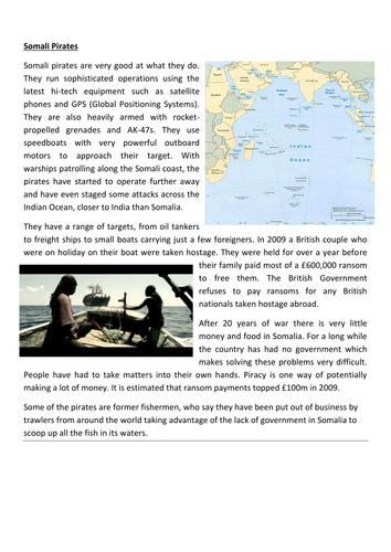 Geography of Crime- Somali Pirates