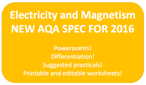 Electricity and Magnetism NEW KS3 AQA SPEC 2016