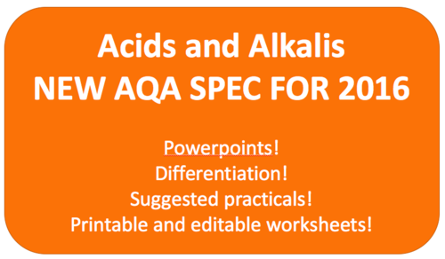 Acids and Alkalis NEW KS3 AQA SPEC 2016