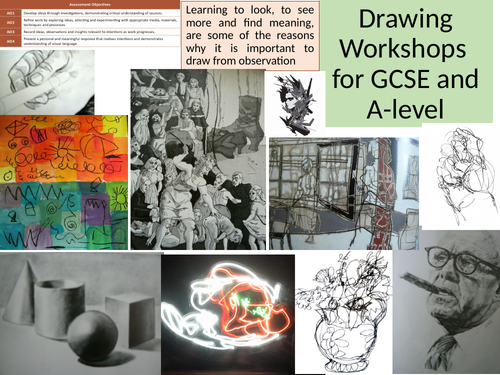A Detailed Drawing Resource For A Level And Gcse Giving Lots Of