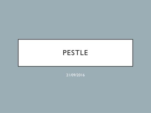 AQA - 3.1.3 - PESTLE / PEST