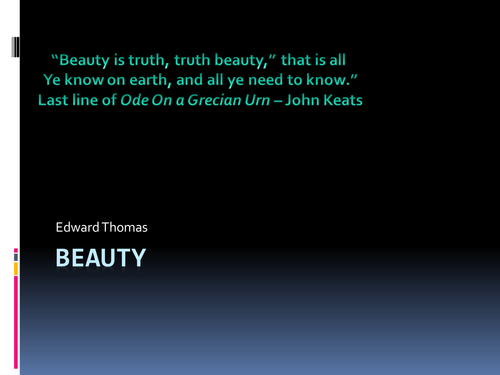 Edward Thomas Beauty PowerPoint