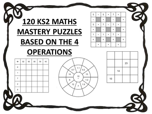 120 ks2 maths mastery puzzles 4 operations by erylands teaching resources. Black Bedroom Furniture Sets. Home Design Ideas