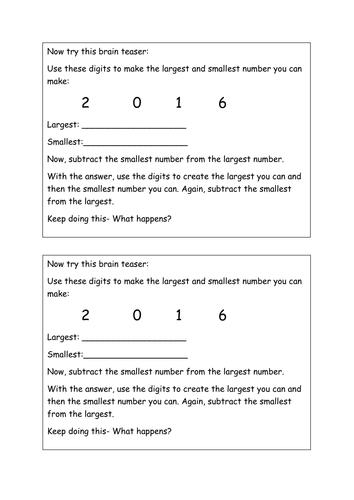 Subtraction puzzles 4 digit subtraction and decimal subtraction