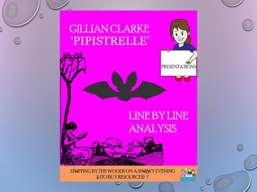 'Pipistrelle' - Gillian Clarke -  Line by Line analysis