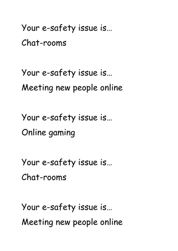 E-safety ICT Lesson 4 - Year 7: Newsround and Chatrooms (video included)