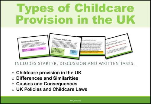 Childcare Provision in the UK (Unit of Work)