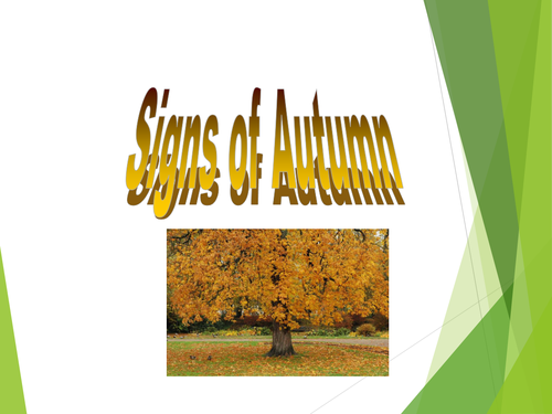signs of autumn assembly