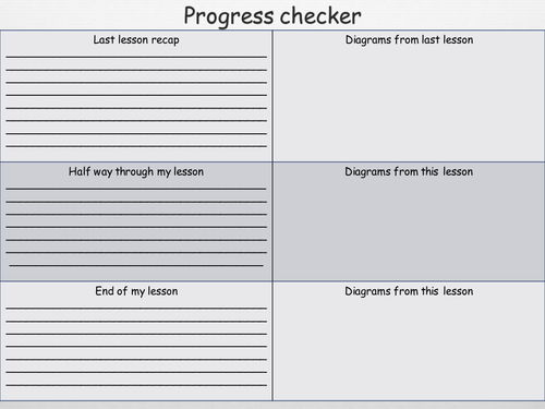 science in lesson progress checker