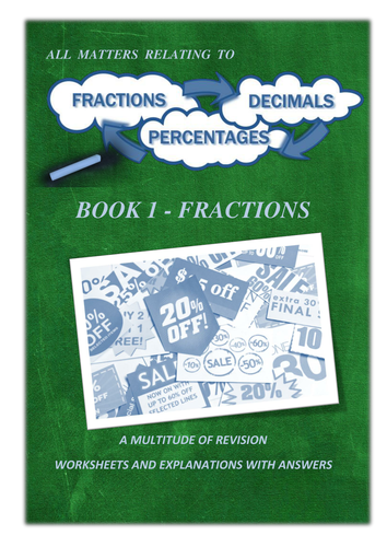 Fractions - 106 Page Workbook / x3 PowerPoint Lessons and Revision