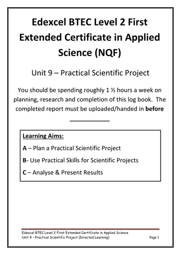 Practical project log book