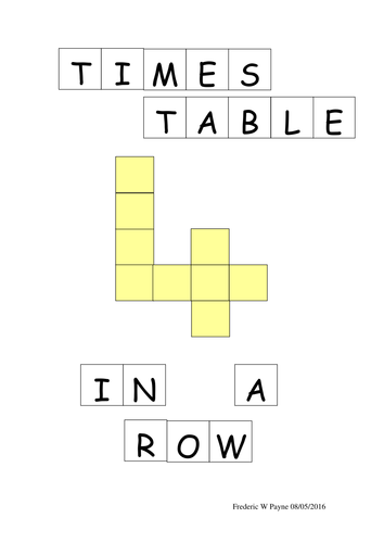 Times Table 4-in-a-Row
