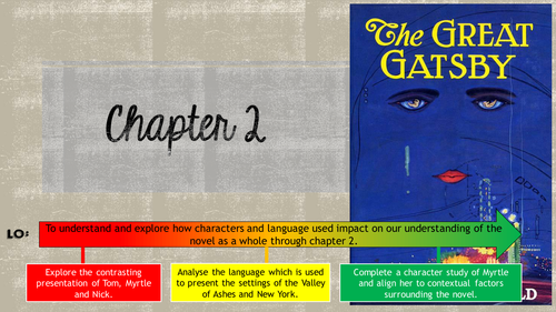 AQA GCE English Literature 'The Great Gatsby' chapter 2 lesson