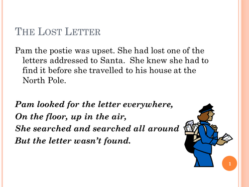 Pam the Postie story suitable for Christmas