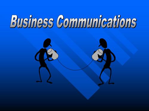 GCSE Business - Business Communication