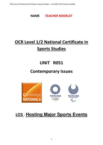 OCR National Certificate in Sports Studies R051 teacher booklet LO3