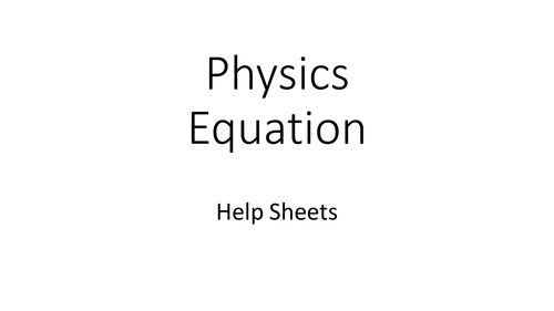 Physics Equations - 2