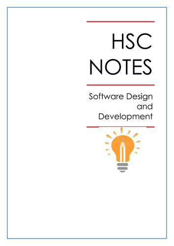 Hsc Software Design And Development Notes Teaching Resources