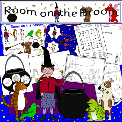 Room on the Broom story resource pack- Halloween