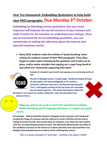 Embedding quotations support sheet