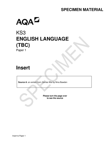 NEW SPEC English Language Paper 1