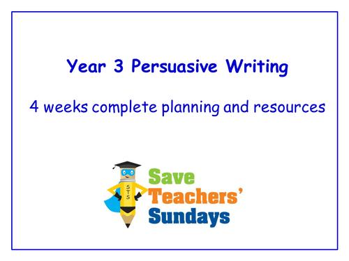 year 3 persuasive writing